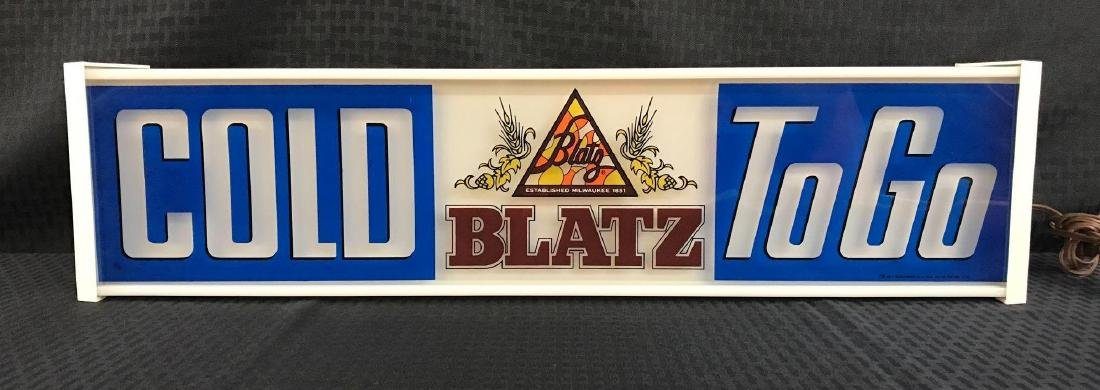 Cold Blatz Beer To Go Light Up Sign - 2