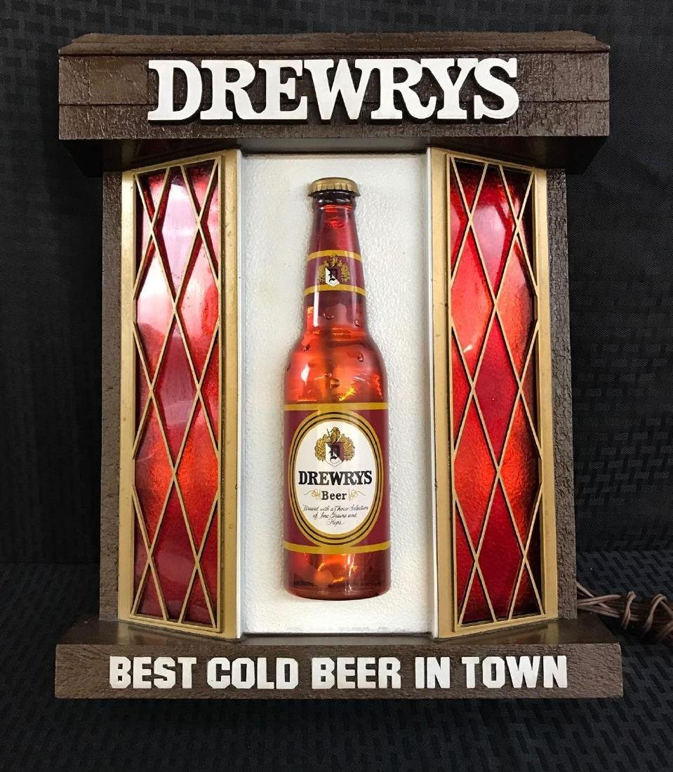 Drewrys Beer Window Light Up Sign - 2