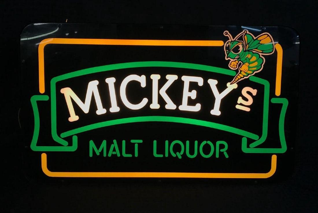 Mickey's Malt Liquor Light Up Sign - 2