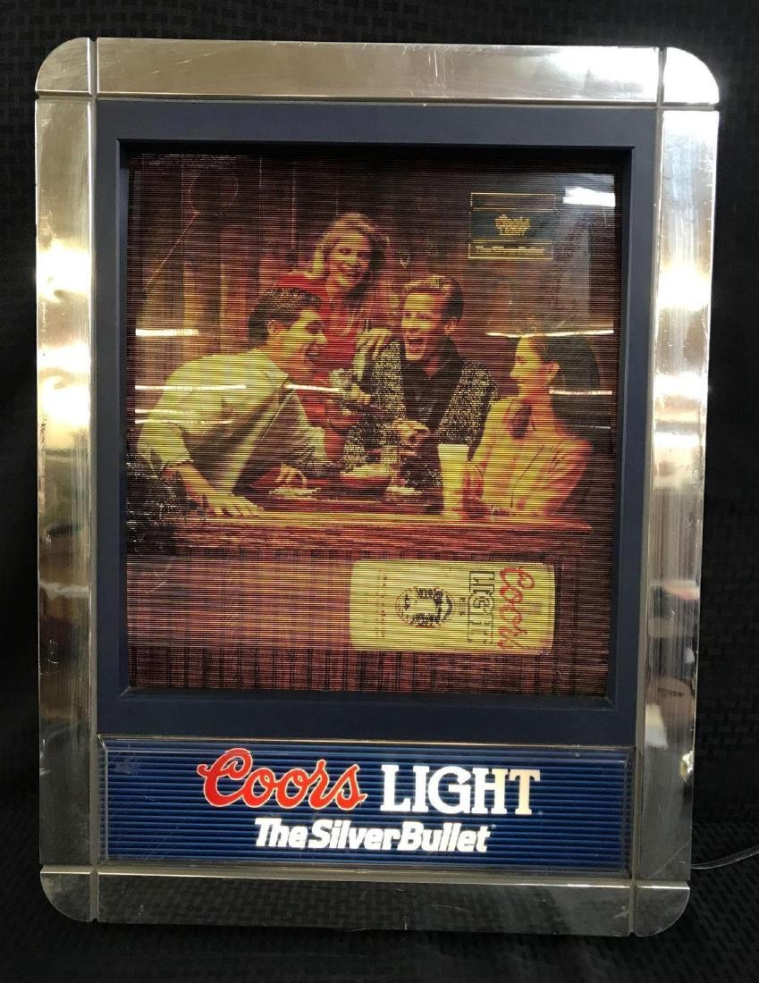 Coors Light Beer Light Up Sign with Changing Scenes