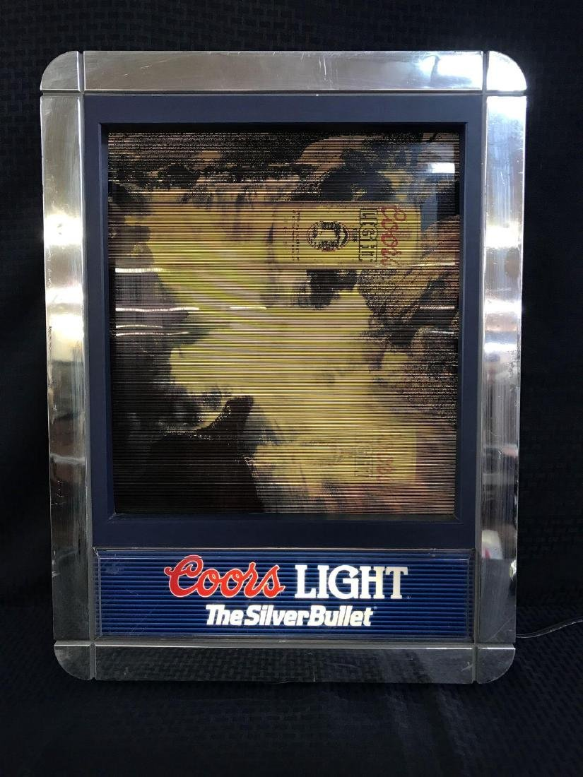 Coors Light Beer Light Up Sign with Changing Scenes - 3