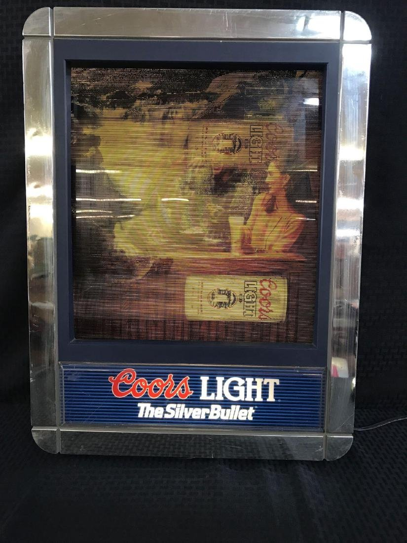 Coors Light Beer Light Up Sign with Changing Scenes - 4