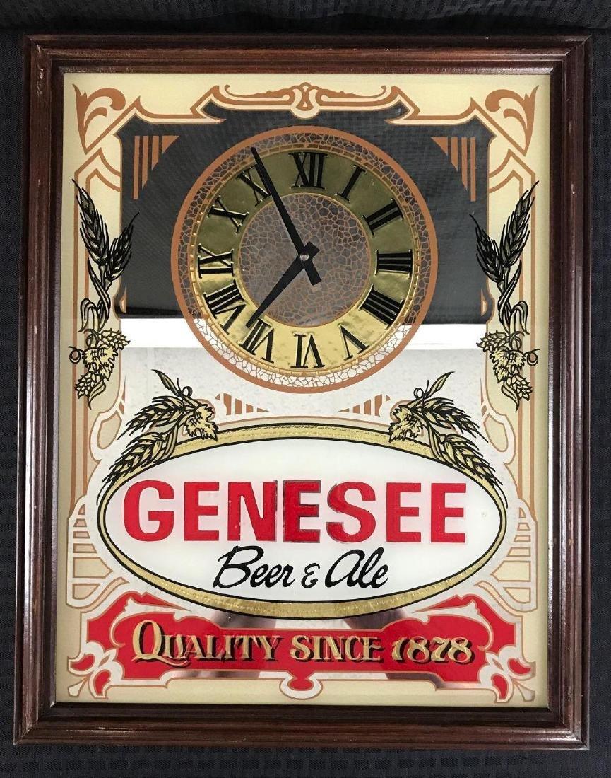 Genesee Beer and Ale Mirror Clock