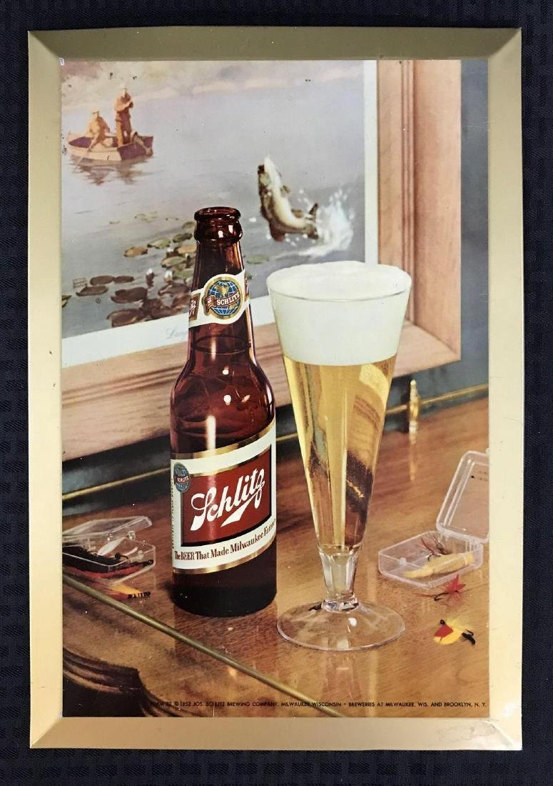 Vintage Schlitz Beer Metal Advertising Sign