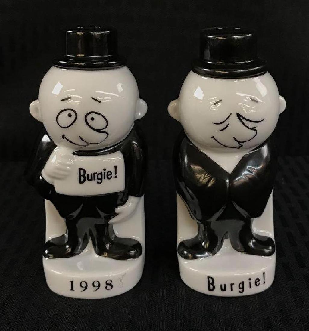 Strohs Burgie Salt and Pepper Shakers