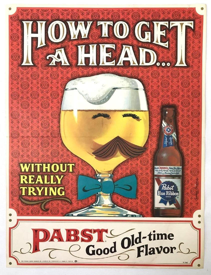 Group of 4 Pabst Beer Vintage Advertising Posters - 2