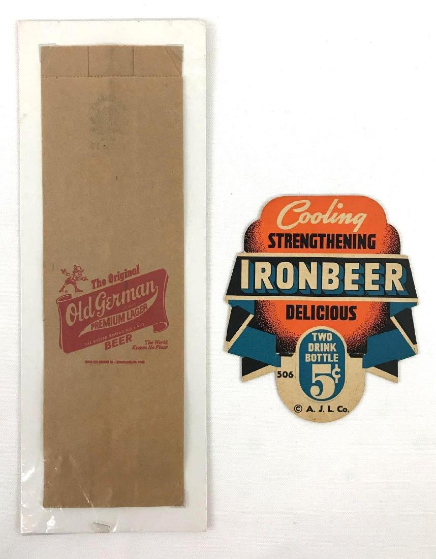 Ironbeer Vintage Advertising Bottle Topper and Old