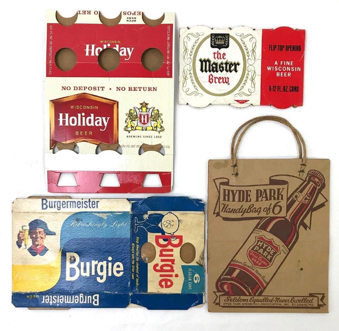 Vintage Advertising Beer Cases and Bag