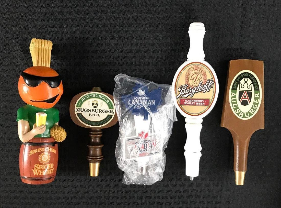 Group of 5 Beer Pull Tappers