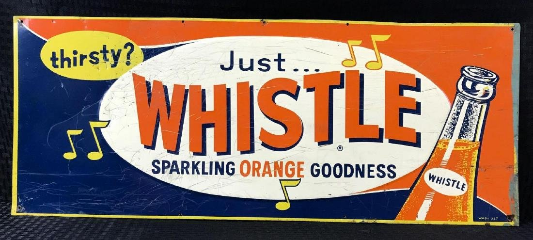 Whistle Sparkling Orange Drink Embossed SST Sign