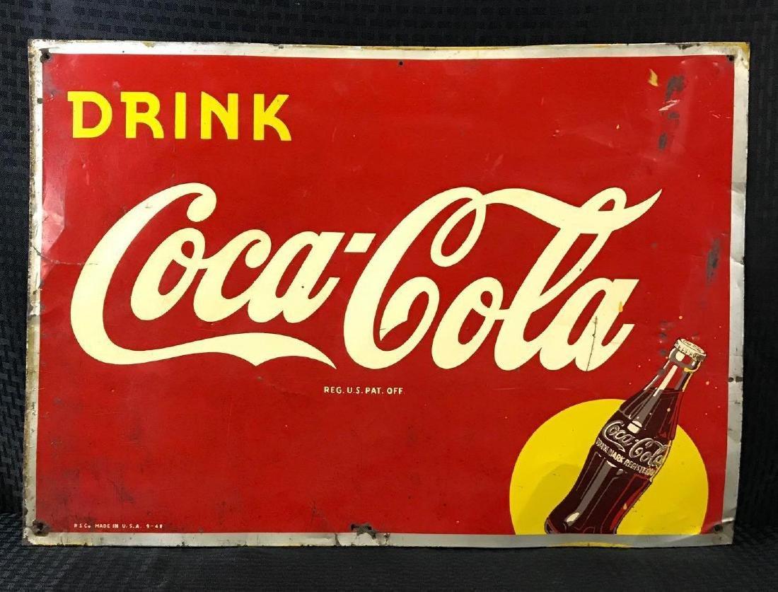 Vintage Coca-Cola SST Sign
