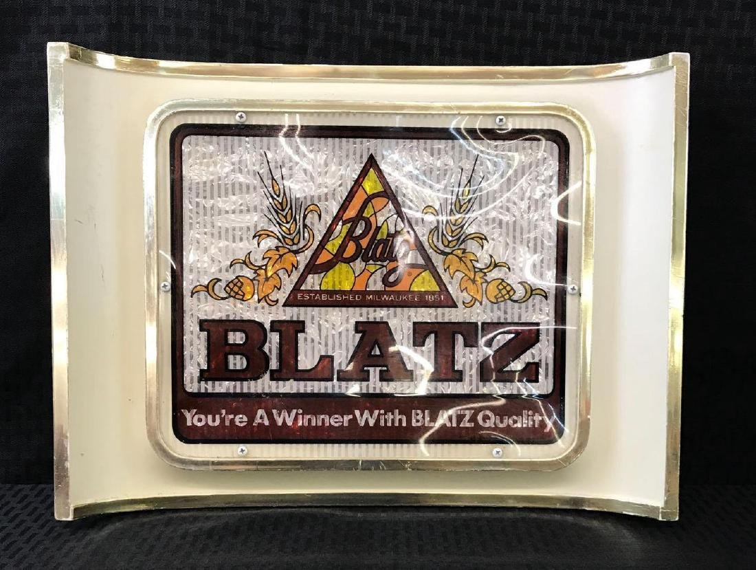Curved Blatz Beer Sign