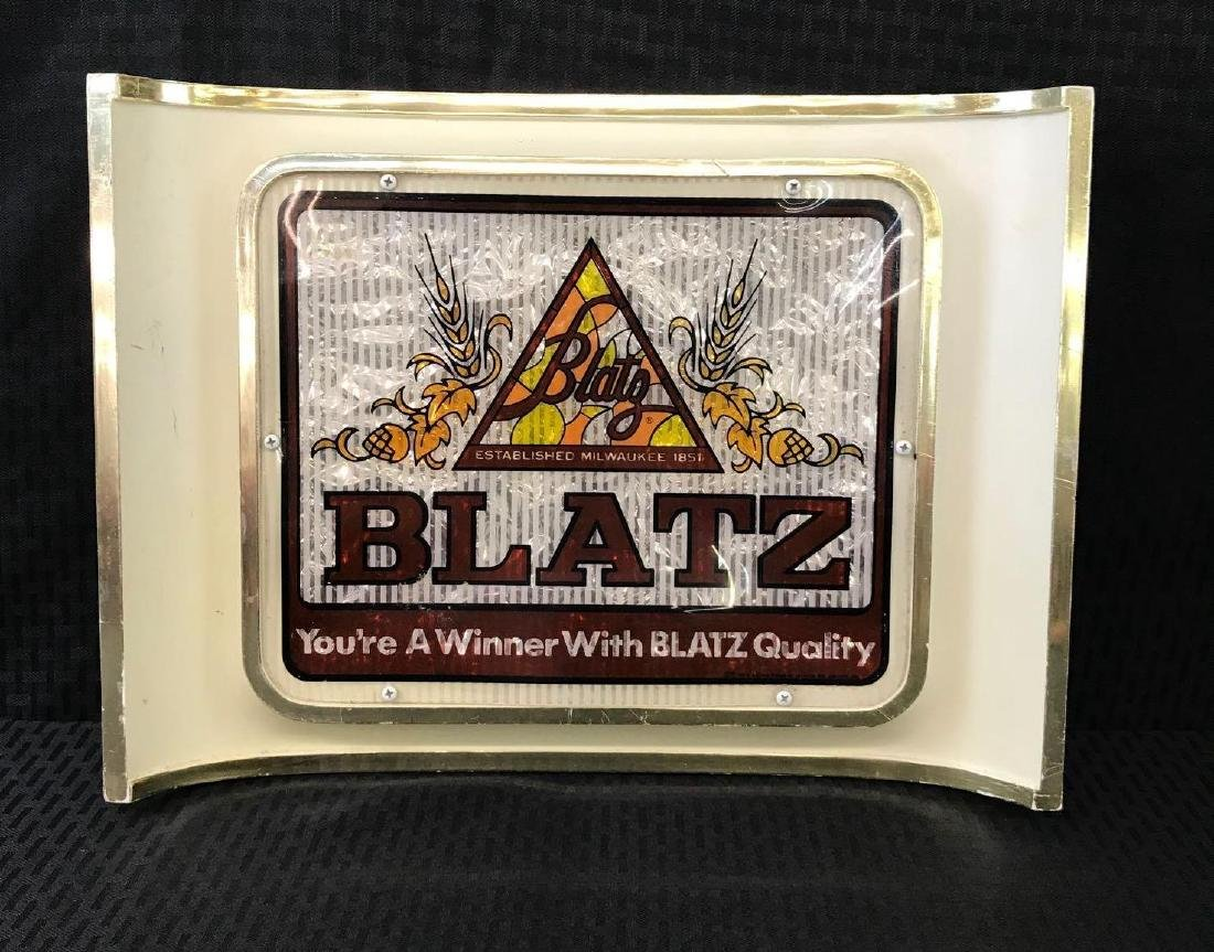 Curved Blatz Beer Sign - 2