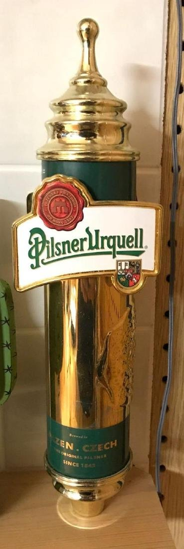 Pilsner Urquell advertising beer tapper