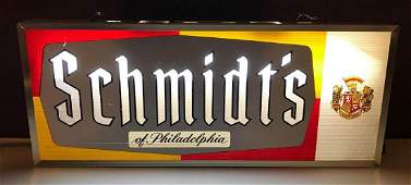 Vintage schmidts light up advertising beer sign