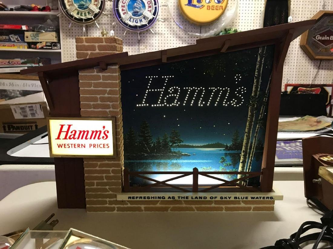 Vintage Hamm's light up Starry Skies advertising motion