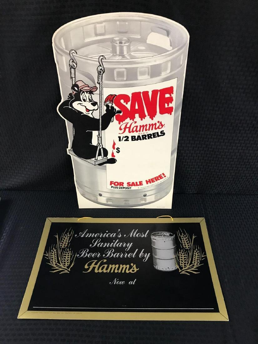 2 Hamm's Beer Retail Signs