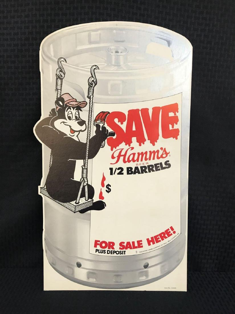 2 Hamm's Beer Retail Signs - 2
