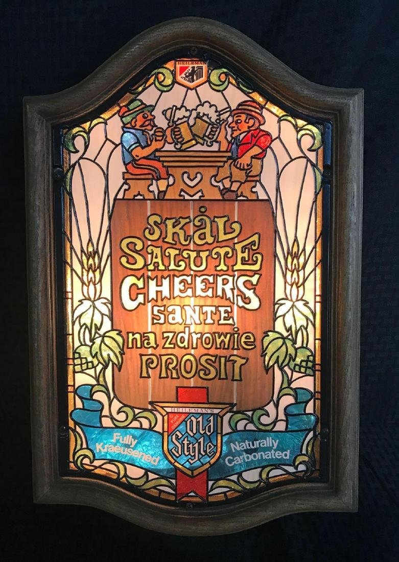 "Old Style Beer Light Sign ""Cheers"""