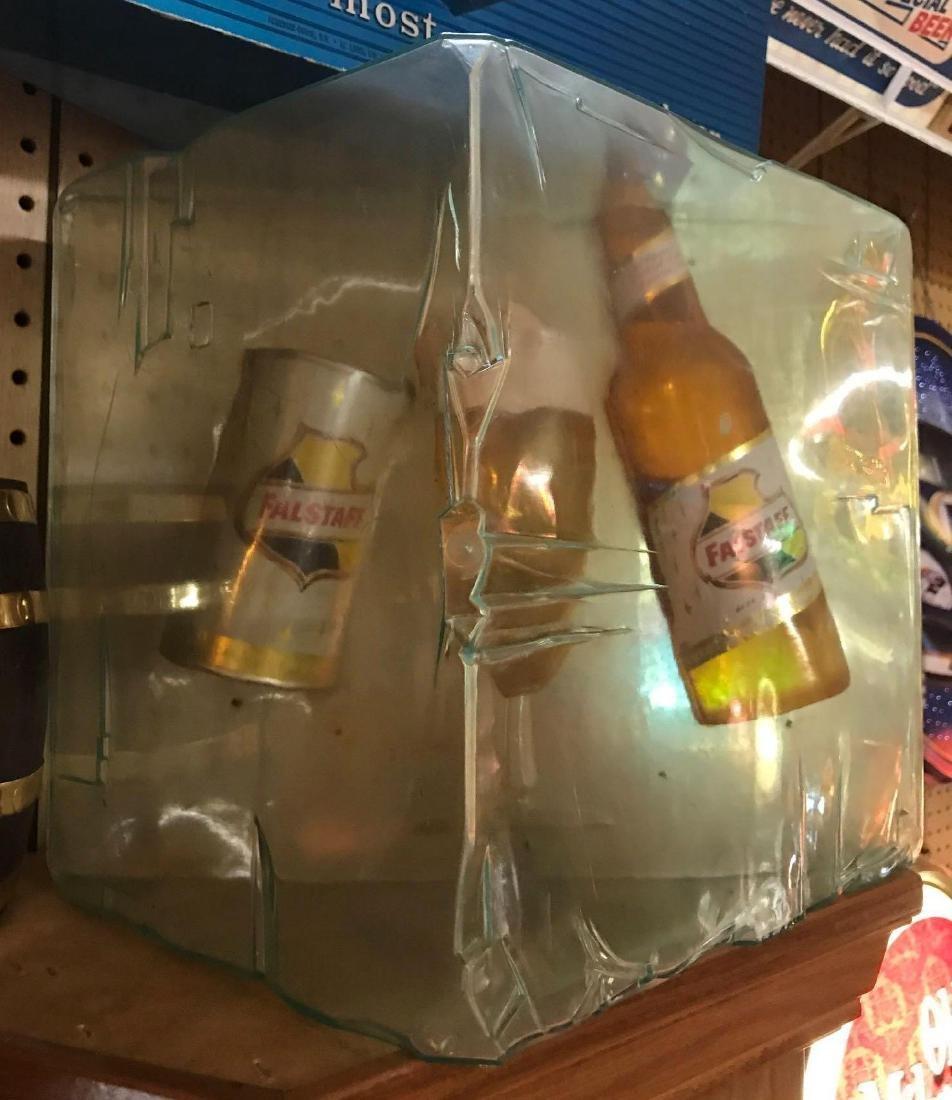 Rare Falstaff Beer Ice Cube Advertising Sign
