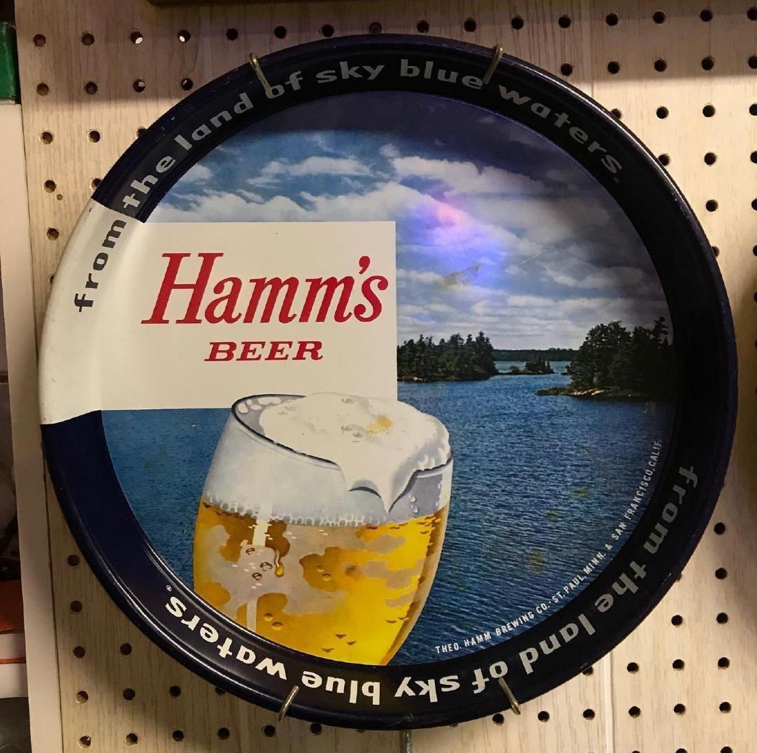 Vintage Hamm's beer trey