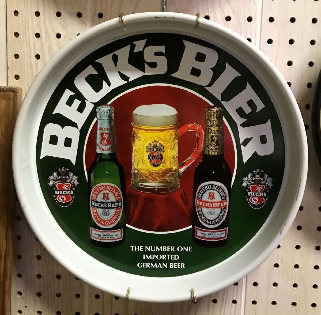 Vintage Beck's Bier Beer Trey