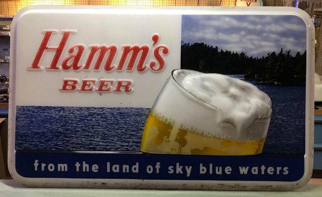 Hamm's advertising beer exteriorer sign cover