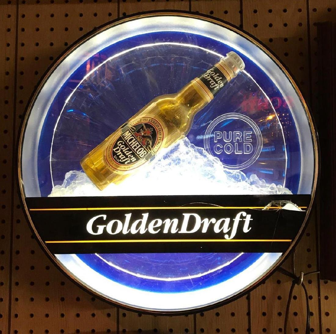 Michelob Golden Draft Pure Cold Light Up Advertising