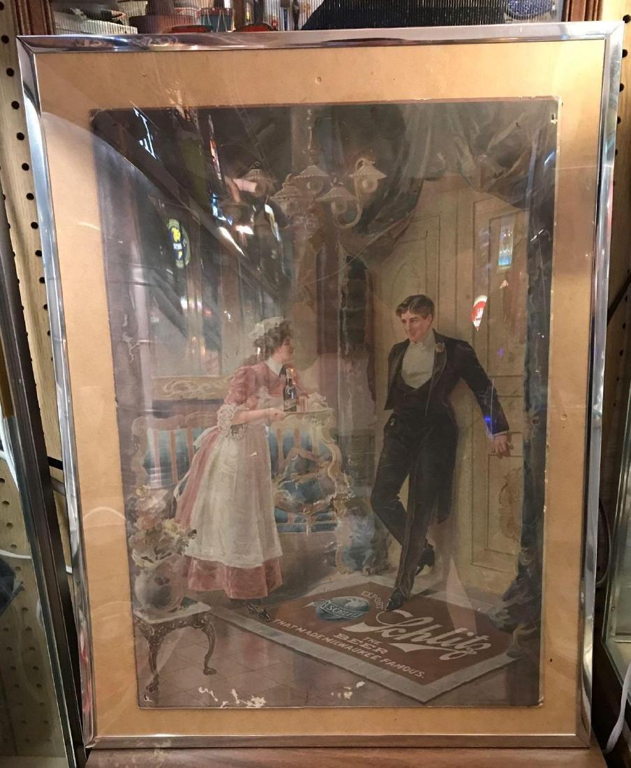 """Schlitz """"The maids dilemma"""" advertising lithograph"""