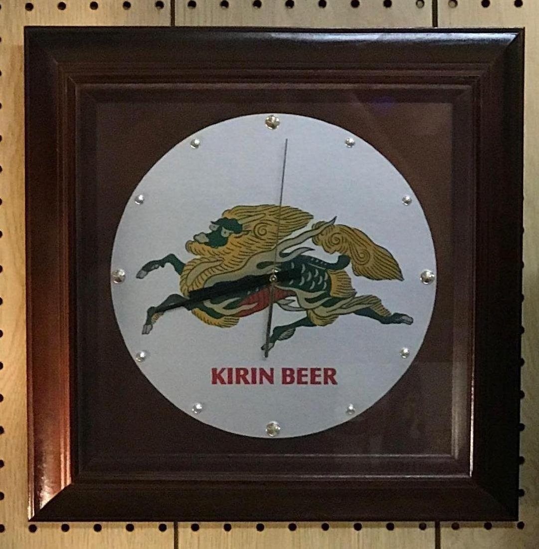 Kirin beer advertising clock
