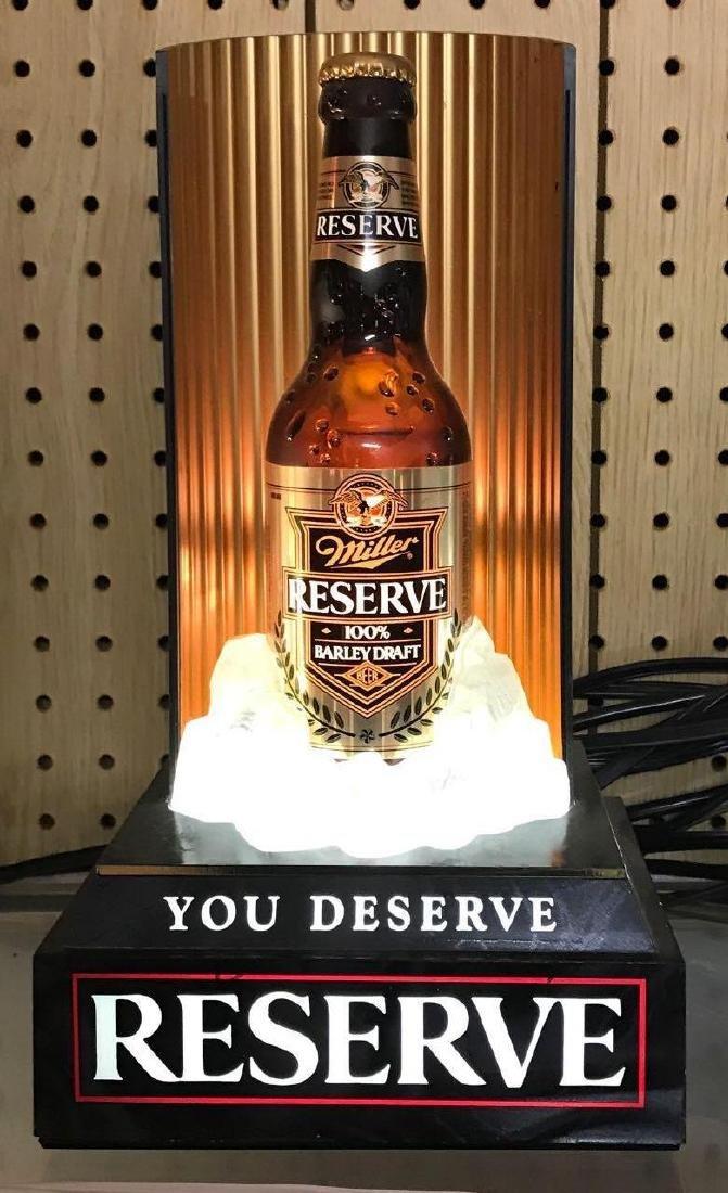 Miller reserve hundred percent barley draft beer light