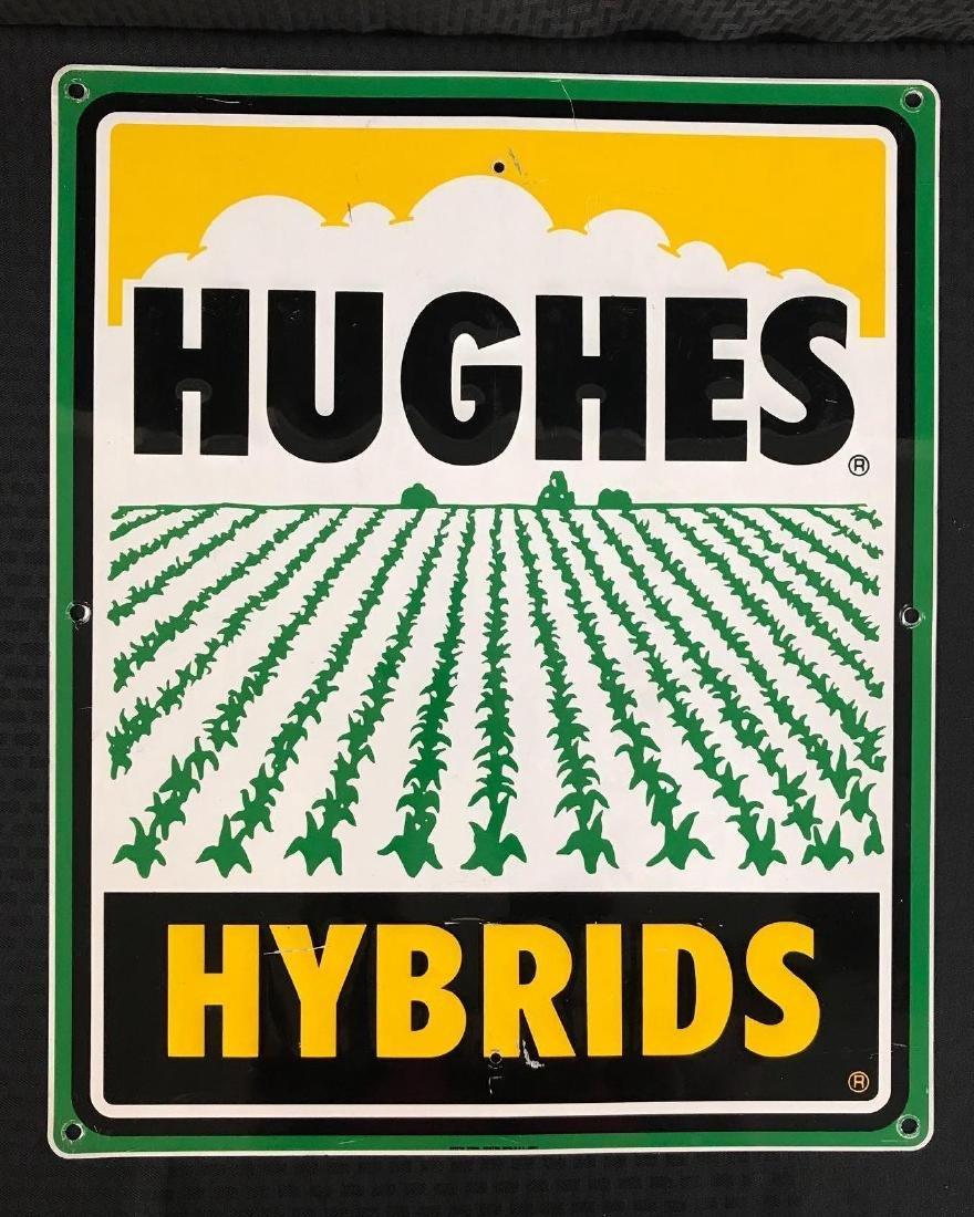 Hughes Hybrids Metal Ag SST Sign