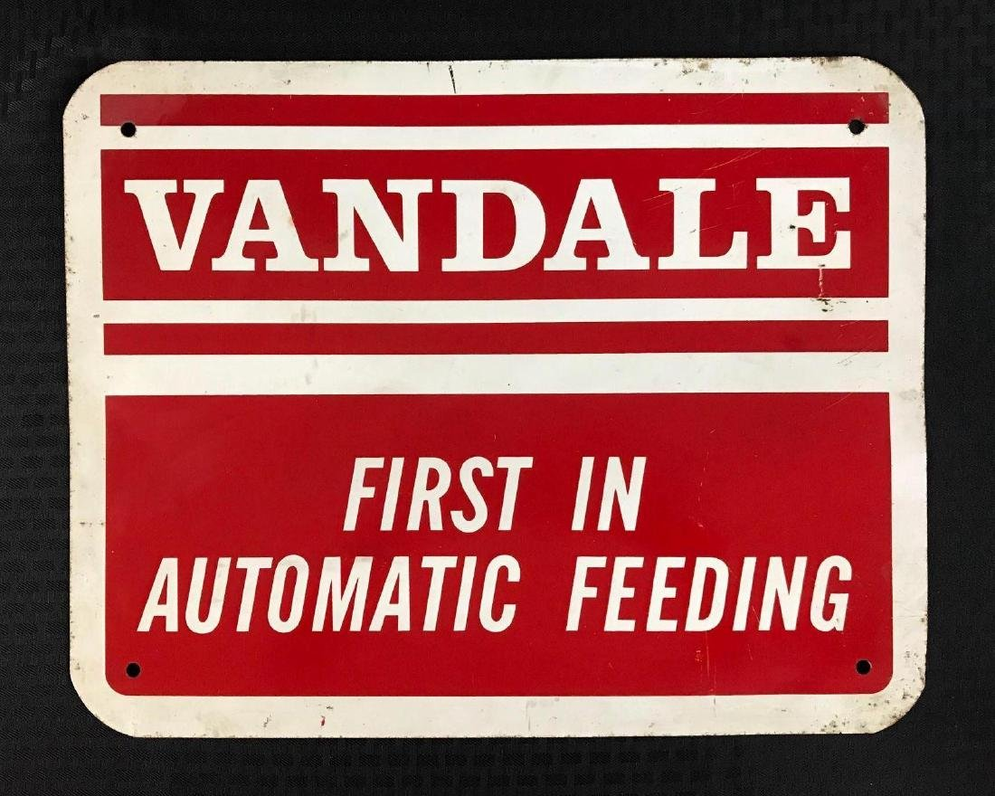 Vandale One Sided Metal Ag Sign