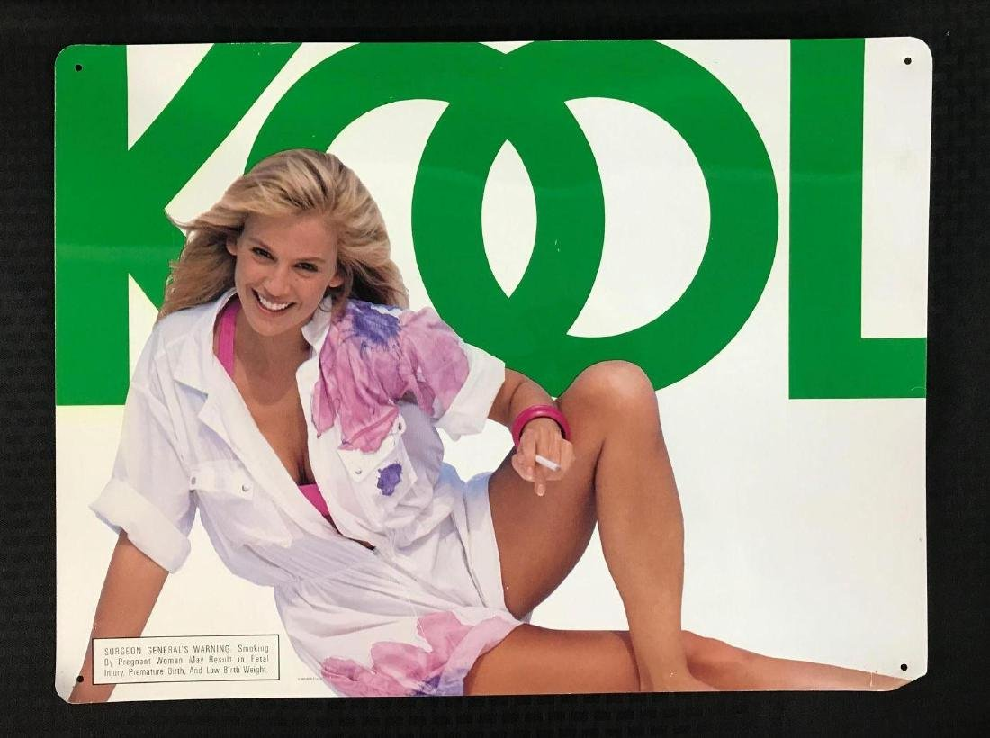 Kool Cigarettes Sign with Pretty Lady