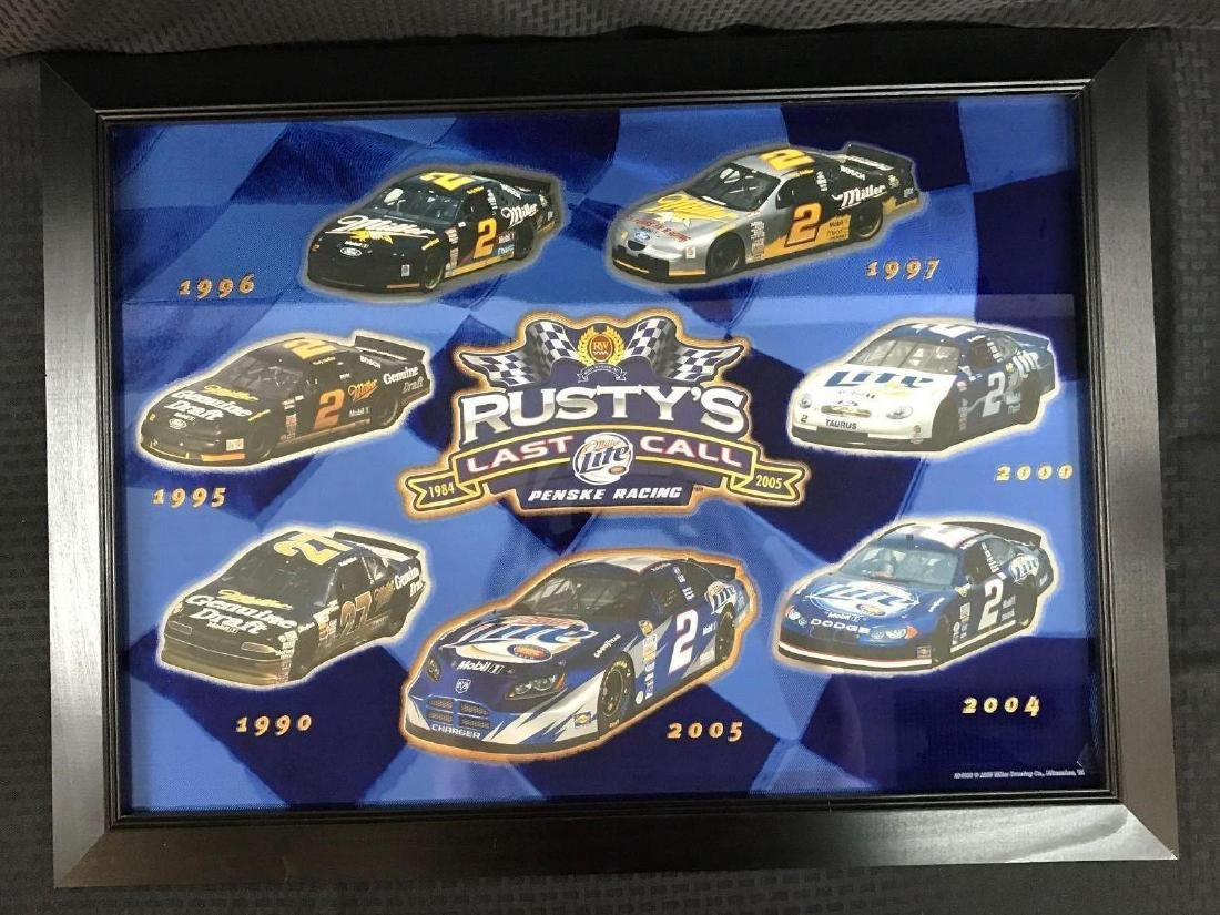 Rusty's Last Call Penske Racing Framed Foil Poster