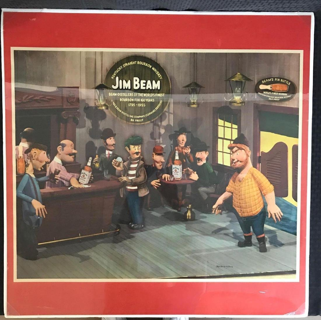 Large Jim Beam Poster by Rex Werner