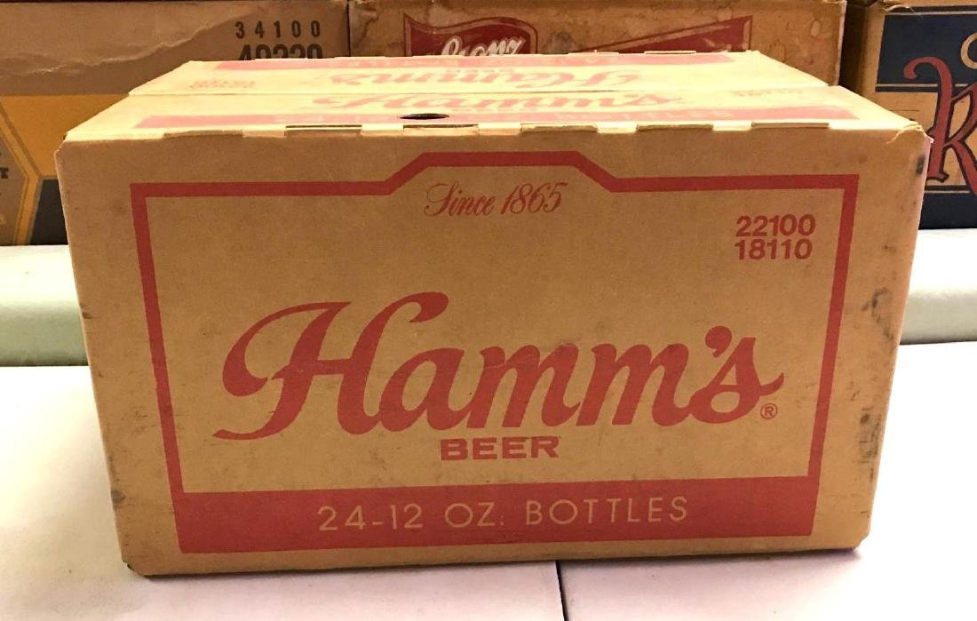 Vintage Hamm's 24 pack advertising cardboard beer box