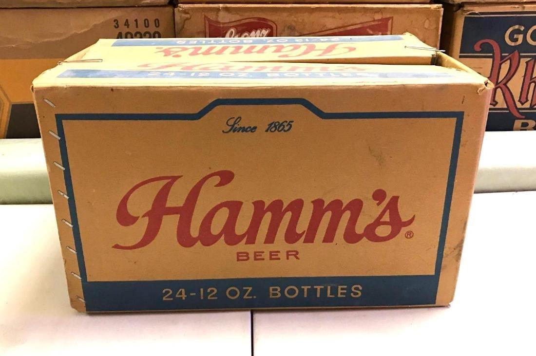 Vintage Hamm's 24 pack advertising cardboard beer box