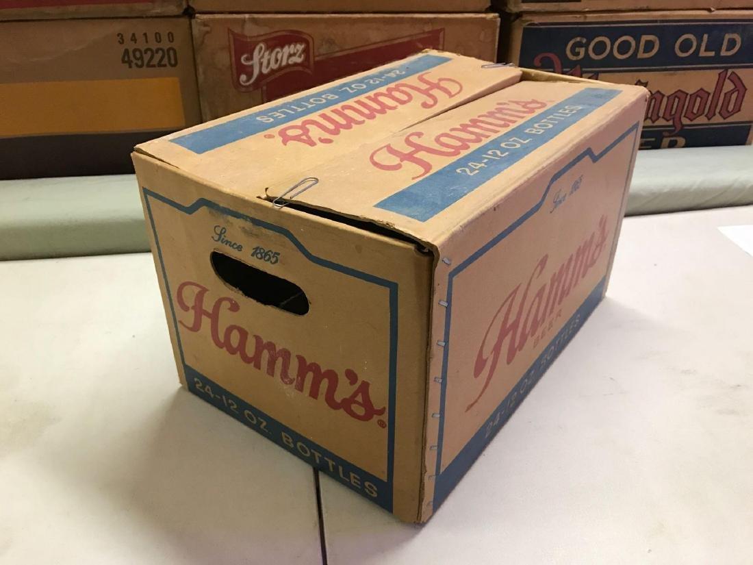 Vintage Hamm's 24 pack advertising cardboard beer box - 2