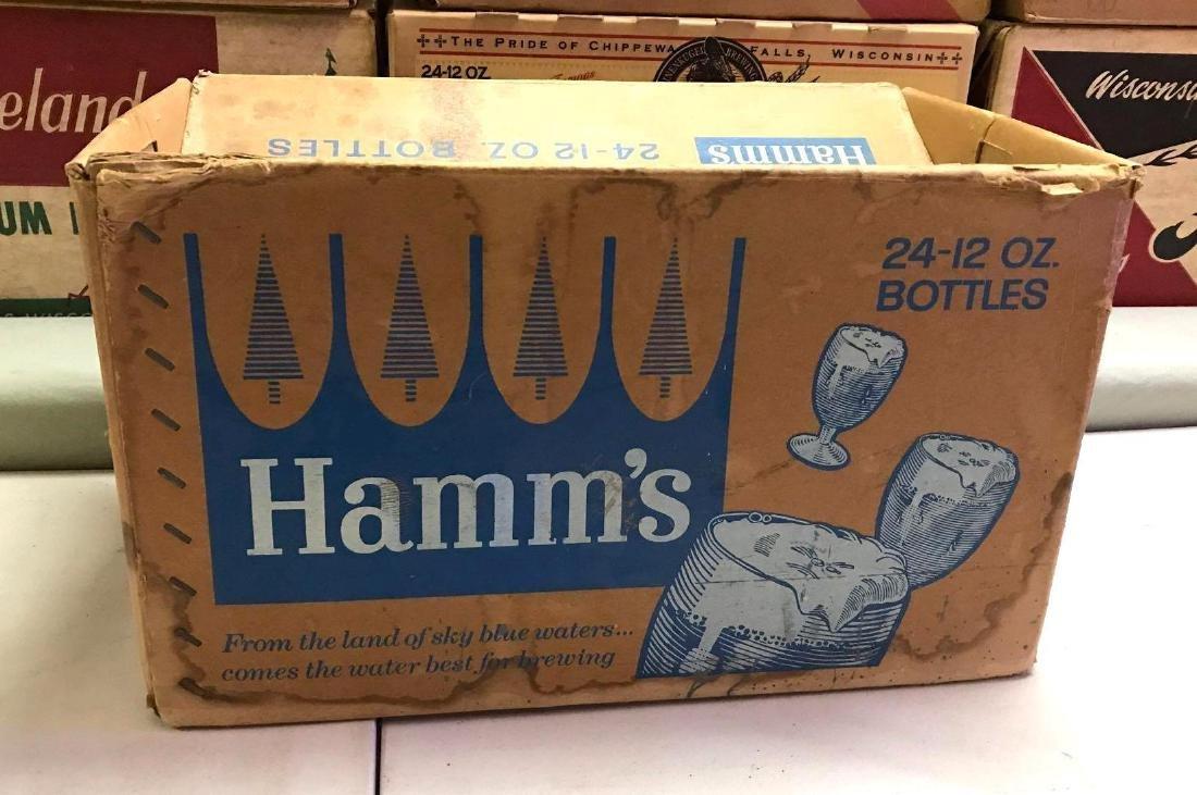Vintage Hamm's 24 pack cardboard advertising beer box