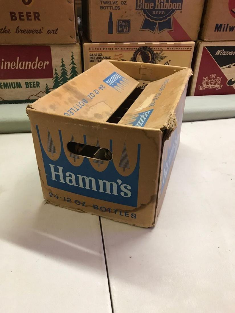 Vintage Hamm's 24 pack cardboard advertising beer box - 2