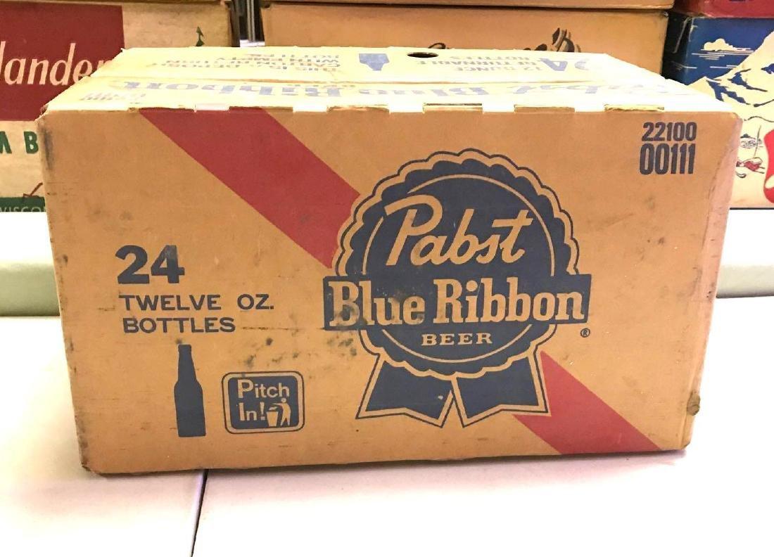 Vintage Pabst blue ribbon 24 pack cardboard advertising