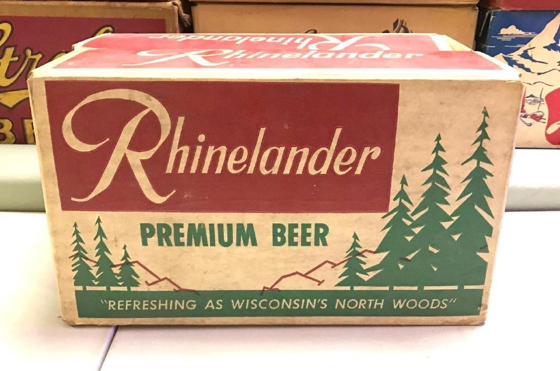 Vintage Rhinelander 24 pack cardboard advertising beer