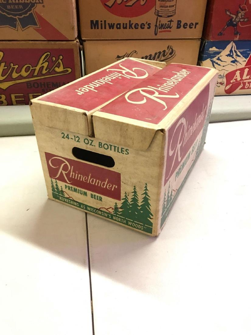 Vintage Rhinelander 24 pack cardboard advertising beer - 2