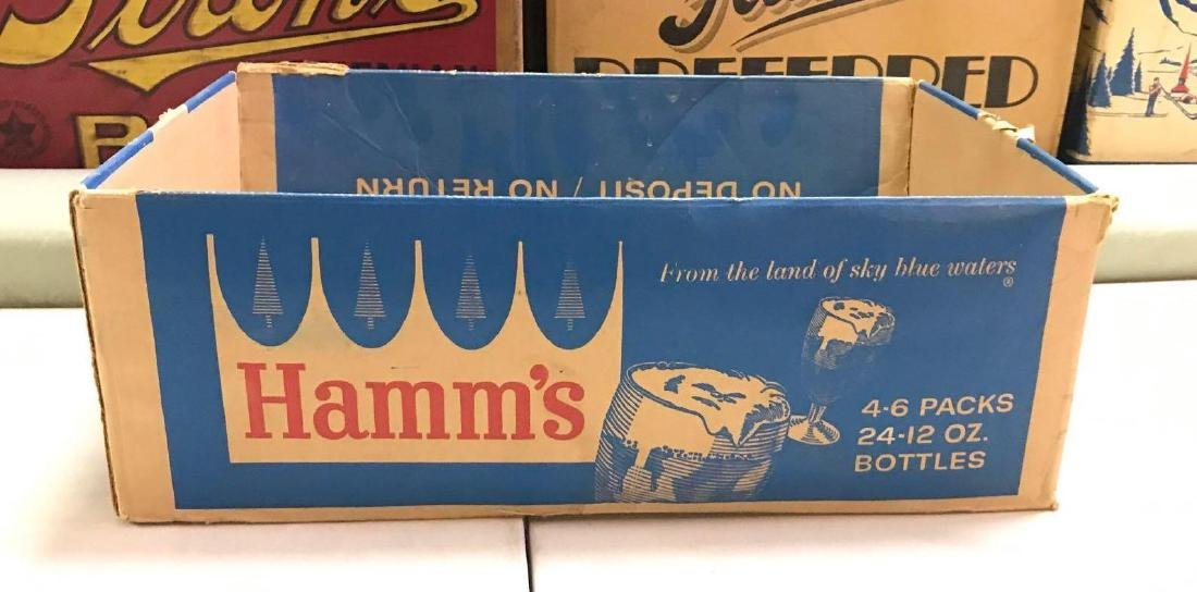 Vintage Hamm's 24 pack cardboard advertising beer box