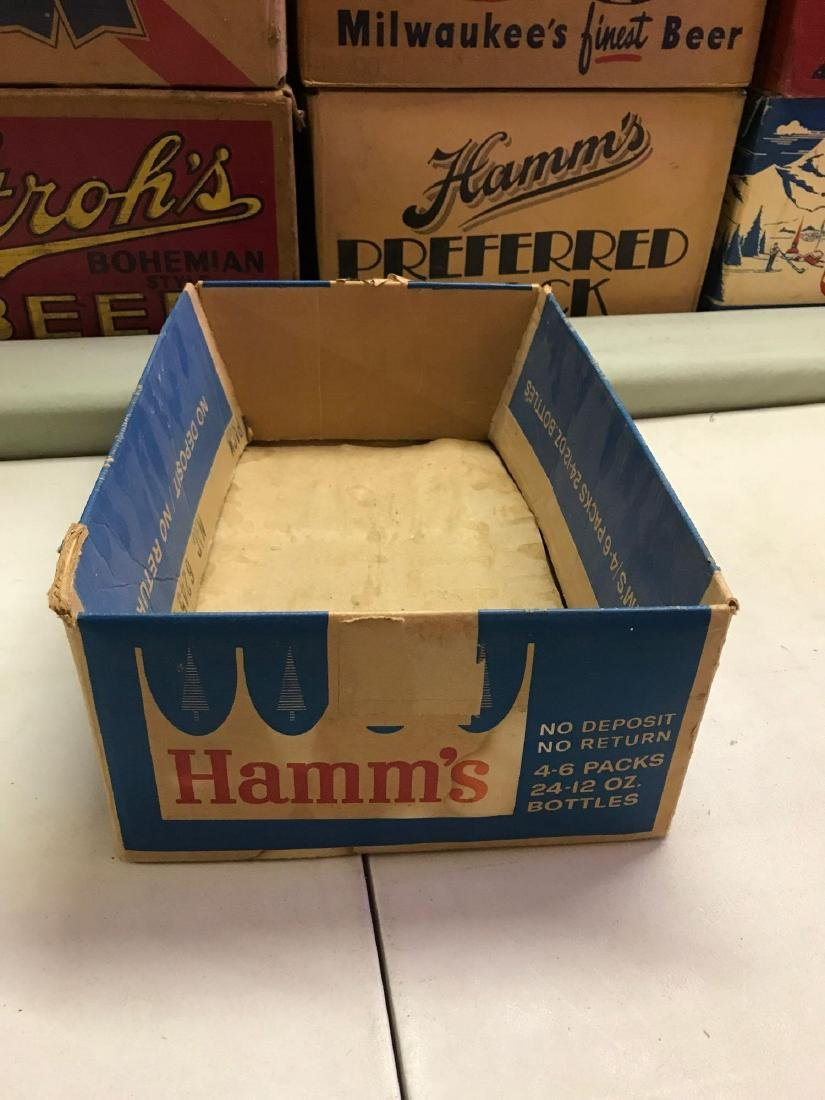 Vintage Hamm's 24 pack cardboard advertising beer box - 2
