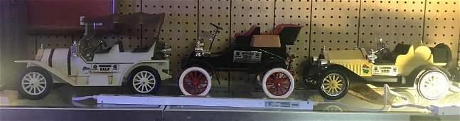 Group of three vintage Jim Beam car decanter