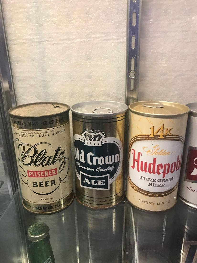 Group of Seven vintage beer cans - 2