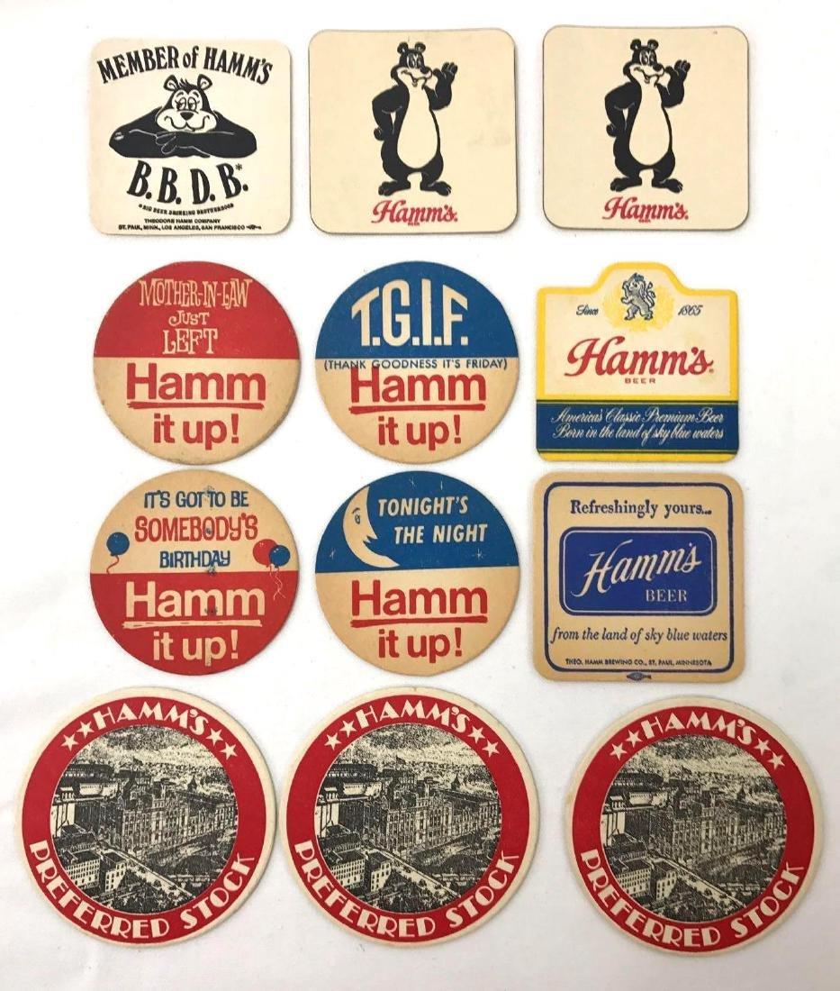 Group of Vintage Hamms Beer Advertising Coasters and