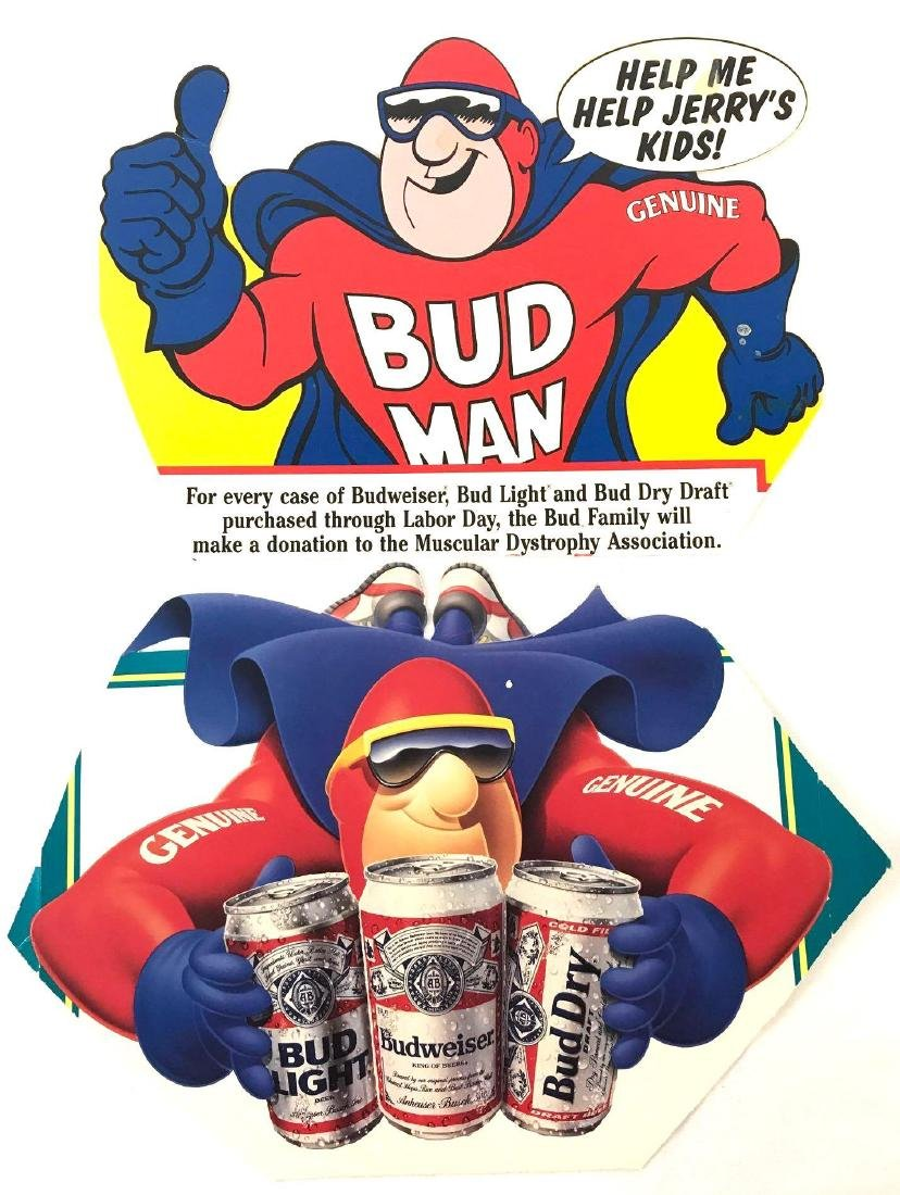 Budweiser Beer Advertising Decals Featuring Bud Man and